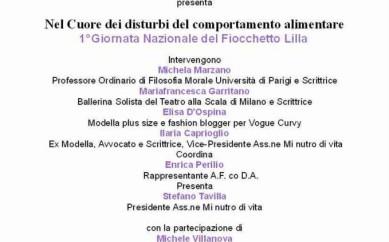15 marzo a Genova: prima giornata nazionale del Fiocchetto Lilla per sensibilizzare sui DCA