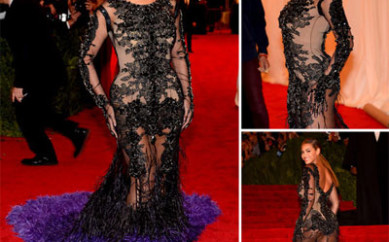 Beyonce in Givenchy Couture al Met Galà 2012