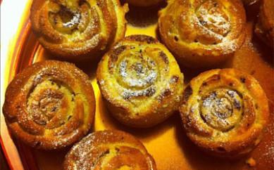Muffins con gocce di cioccolato (Kcal 280 ca)