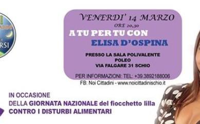 Venerdì 14 marzo 2014, ore 20.30 Schio (Vicenza)