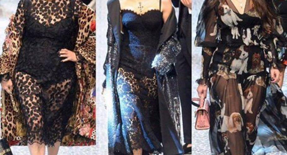 Le Real People sfilano per Dolce & Gabbana