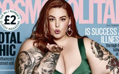"""Tess Holiday """"Volevo solo scomparire"""". La modella oversize sulla cover di Cosmopolitan"""